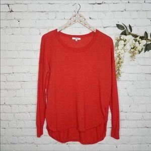 MADEWELL red merino wool crew neck sweater